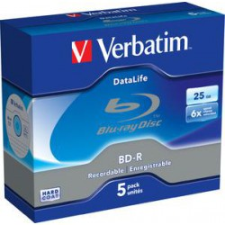 VERBATIM BD-R SL (6x, 25GB),NON-ID, 5ks/pack