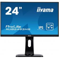 """24"""" iiyama XUB2493HS-B1 - IPS,FullHD,4ms,250cd/m2, 1000:1,16:9,VGA,HDMI,DP,repro.pivot,výškov.nast."""