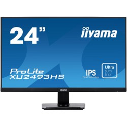 "24"" iiyama XU2493HS-B1 - IPS,FullHD,4ms,250cd/m2, 1000:1,16:9,VGA,HDMI,DP,repro."