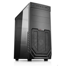 1stCOOL MiddleTower JAZZ 2, ATX black černý, bez zdroje, middletower ATX (2xUSB3+ Audio+ Ventilátor+ Transparentní bočnice) (PC