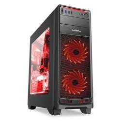 1stCOOL FullTower GAMER 1, ATX black černý, bez zdroje, fulltower ATX (2xUSB2+ 1xUSB3+ Audio+ Transparentní bočnice) (PC case)