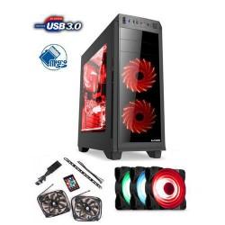 1stCOOL Middle Tower GAMER 2, ATX black černý, bez zdroje, fulltower ATX (2xUSB2+ 1xUSB3+ Audio+ Ventilátor set FAN1+ Transparen