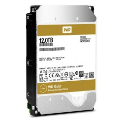 WDC WD121KRYZ hdd GOLD 12TB SATA3-6Gbps 7200rpm 256MB RAID (24x7 do serveru) 255MB/s