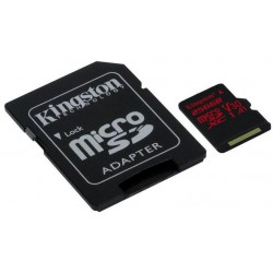 256GB microSDXC Kingston Canvas React U3 100R/70W V30 A1 + SD adapter