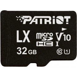 32GB microSDHC Patriot V10, class 10 U1 až 80MB/s + adapter