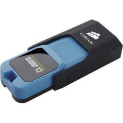 CORSAIR Voyager Slider X2 128GB USB3.0 flash drive (výsuvný konektor, čtení 200MB, zápis 90MB)