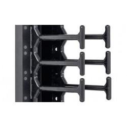 """19"""" vyvazovací panel 42U - Hřeben, dvouřadý černý"""