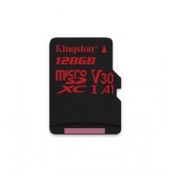 128GB microSDXC Kingston Canvas React U3 100R/70W V30 A1 + bez adapteru