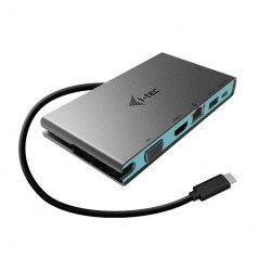 i-tec USB-C 4K Travel dokovací stanice - multifunkční adaptér, 1xHDMI 4K UHD nebo 1xVGA, kabel 20cm