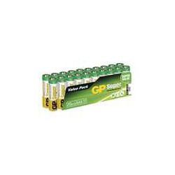 GP SUPER ALKALINE BATTERY AAA (LR03) - 20KS