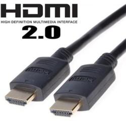 KABEL propojovací HDMI M - HDMI M, 0.5m, dual shielded+ethernet, standard 2.0 HQ, zlacené konektory