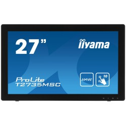 "27"" LCD iiyama T2735MSC-B2 - 5ms,255cd/m2,DVI,HDMI,VGA,USB,multidotek,kapacitní,kamera+mikrofon"