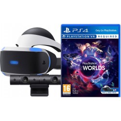 PS4 - PSVR headset Mk4+Kamera+VR Worlds(voucher)