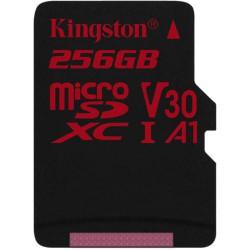 256GB microSDXC Kingston U3 100R/80W bez adapt.