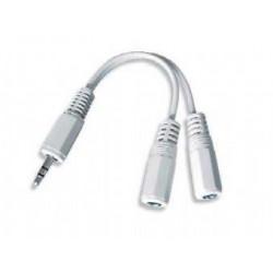 Kabel REDUKCE jack 3,5mm(M) - 2x 3,5mm(F) , audio,stereo,CCA-415W GEMBIRD
