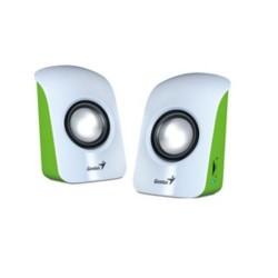 GENIUS repro SP-U115 USB napájení, přenosné white/green 2.0 3W RMS (bílo-zelené)