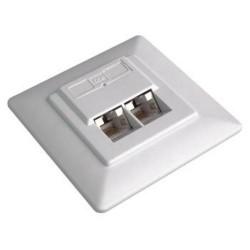 ZÁSUVKA kat. 5e STP 2xRJ45 pod omítku, bílá, do přístrojové montážní krabice