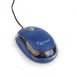Gembird myš MUS-U-01, modrá/průhedná, USB