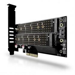 AXAGON PCEM2-D, PCIe x4 - M.2 NVMe M-key + SATA B-key slot adaptér, LP