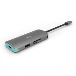 i-tec USB-C Metal Nano Dock 4K HDMI, Power Delivery 60W