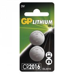 GP CR2016 Lithiová knoflíková beterie (2ks)
