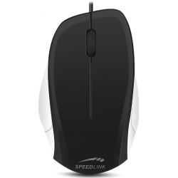 LEDGY Mouse - USB, Silent, black-white