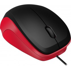 LEDGY Mouse - USB, Silent, black-red