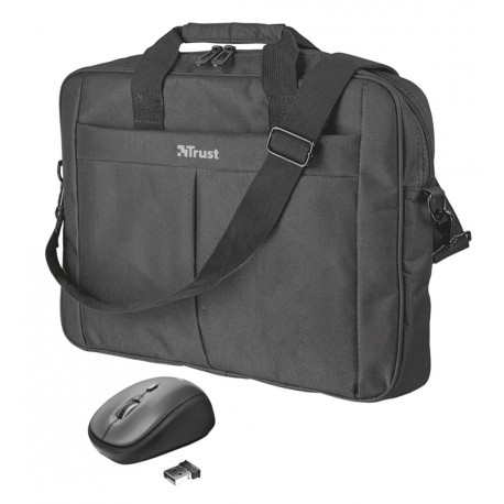"""set TRUST Primo 16"""" Bag with wireless mouse"""