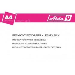 ALDA9 Fotopapír A4 140 g/m2, prem.lesklý, 20listů