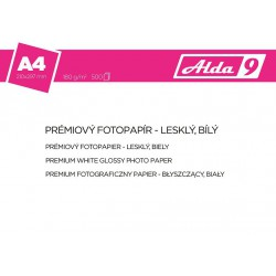 ALDA9 Fotopapír A4 180 g/m2, prem. lesklý,500listů