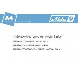 ALDA9 Fotopapír A4 250 g/m2, prem. matný, 100listů