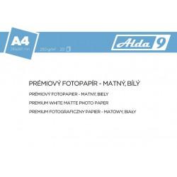ALDA9 Fotopapír A4 250 g/m2, prem. matný, 20listů