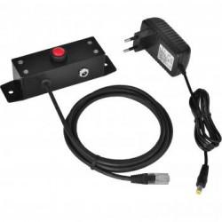 Virtuos tlačítko pro otevírání pokladních zásuvek Virtuos 24V, kovové s kabelem