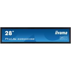 "28"" iiyama S2820HSB-B1: IPS, 1920x360 (16:3), 1000cd/m2, 24/7, VGA, DVI, HDMI, RS-232c, černý"