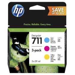 HP P2V32A   3pack CMY náplň č.711 žlutá+azurová+purpurová (3x 29ml) (pro DesignJet T120, T520)