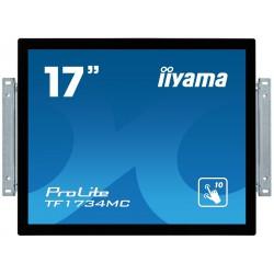"17"" iiyama TF1734MC-B6X: TN, SXGA, capacitive, 10P, 350cd/m2, VGA, DP, HDMI, černý"