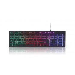 Gembird herní klávesnice, podsvícená, USB