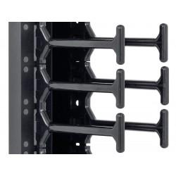 """19"""" vyvazovací panel 45U - Hřeben, dvouřadý černý"""