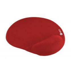 Podložka pod myš gelová C-TECH MPG-03, červená, 240x220mm