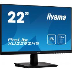 "22"" iiyama XU2292HS-B1: IPS, FullHD@75Hz, 250cd/m2, 4ms, VGA, HDMI, DP, černý"