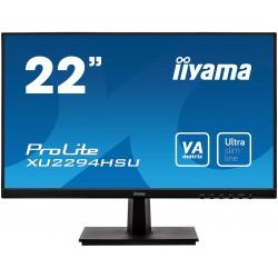 """22"""" iiyama XU2294HSU-B1: VA, FullHD@75Hz, 250/cdm2, 4ms, VGA, HDMI, DP, USB, černý"""