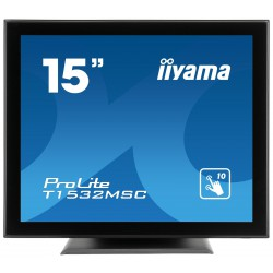 "15"" iiyama T1532MSC-B5AG: TN, XGA, capacitive, 10P, 315cd/m2, VGA, DP, HDMI, černý"