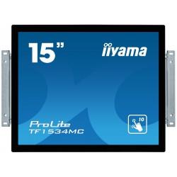 "15"" iiyama TF1534MC-B6X: TN, XGA, capacitive, 10P, 370cd/m2, VGA, DP, HDMI, černý"