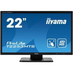 """22"""" iiyama T2253MTS-B1 - TN, FullHd, 2ms, 250cd/m2, VGA, HDMI, DVI, USB"""
