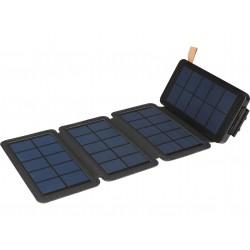 Sandberg Solar 4-Panel + Powerbank 12000 mAh, 2x USB , Wireless Qi, černá