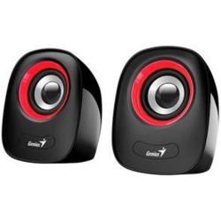 GENIUS repro SP-Q160 USB napájení, Red, 6W RMS černočervený