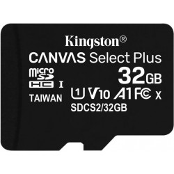 32GB microSDHC Kingston Canvas Select Plus  A1 CL10 100MB/s bez adapteru