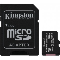 64GB microSDXC Kingston Canvas Select Plus  A1 CL10 100MB/s + adapter