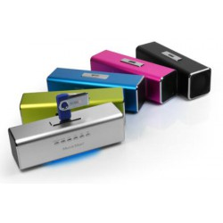 Technaxx MusicMan, baterie 600 mAh, FM, USB, růž.