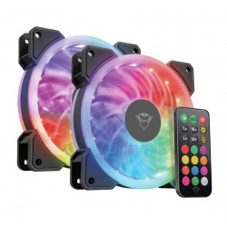 TRUST GXT 770 RGB Illuminated PC Case Fan 2-pack